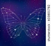 abstract geometric polygonal... | Shutterstock .eps vector #603801782