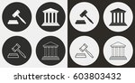 court vector icons set.... | Shutterstock .eps vector #603803432