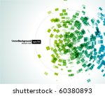 abstract fly shapes vector... | Shutterstock .eps vector #60380893
