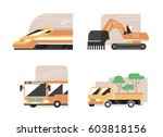 set of machines. high speed...   Shutterstock .eps vector #603818156