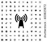 transmitter icon illustration... | Shutterstock .eps vector #603825872