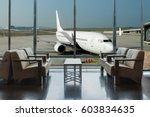 airplane view from airport... | Shutterstock . vector #603834635