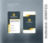 vertical business card print... | Shutterstock .eps vector #603837212