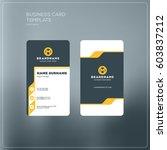 vertical business card print... | Shutterstock .eps vector #603837212