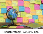 studying languages concept  a...