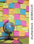 studying languages concept  a... | Shutterstock . vector #603842135