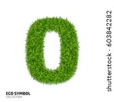 grass number zero isolated on... | Shutterstock .eps vector #603842282