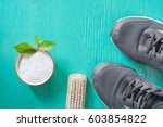 cleaning shoes washing the...   Shutterstock . vector #603854822