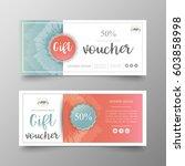 gift voucher premium template... | Shutterstock .eps vector #603858998