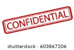 confidential stamp. dirty... | Shutterstock .eps vector #603867206