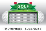 vector of golf tournament with... | Shutterstock .eps vector #603870356