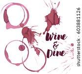 wine spots and spill  vector   Shutterstock .eps vector #603881126