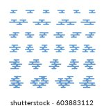 smoke and cloud flat icons for... | Shutterstock .eps vector #603883112