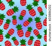 pattern of pineapple.  | Shutterstock .eps vector #603886202