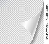 vector realistic white paper... | Shutterstock .eps vector #603889886