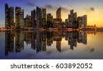 singapore skyline and view of... | Shutterstock . vector #603892052