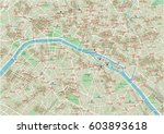 vector city map of paris with... | Shutterstock .eps vector #603893618