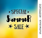 enjoy the summer time logo... | Shutterstock .eps vector #603901652