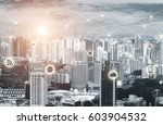 business network connection... | Shutterstock . vector #603904532