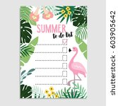 summer greeting card ... | Shutterstock .eps vector #603905642