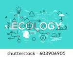 thin line flat design template... | Shutterstock .eps vector #603906905