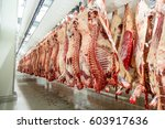 the meat processing plant.... | Shutterstock . vector #603917636