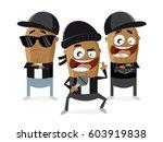 funny cartoon of gangster... | Shutterstock .eps vector #603919838