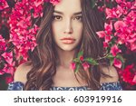 outdoor fashion photo of... | Shutterstock . vector #603919916