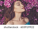 outdoor fashion photo of... | Shutterstock . vector #603919922