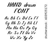 handwritten lettering font...   Shutterstock .eps vector #603925172
