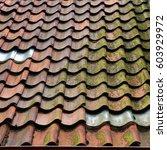 old tiled roof in bremen ... | Shutterstock . vector #603929972