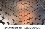 futuristic metallic surface... | Shutterstock . vector #603930428