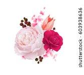 elegance flowers bouquet of... | Shutterstock .eps vector #603938636