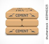 cement bags isolated on white... | Shutterstock .eps vector #603940325