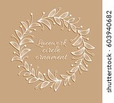 floral white ornamental circle...   Shutterstock .eps vector #603940682
