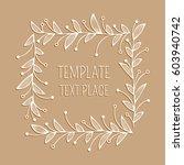 floral white ornamental square...   Shutterstock .eps vector #603940742