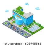 isometric shopping mall... | Shutterstock .eps vector #603945566