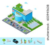 isometric shopping mall... | Shutterstock .eps vector #603945638