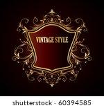 vintage stylized floral frame   Shutterstock .eps vector #60394585