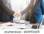 business concept  businessman...   Shutterstock . vector #603953105