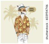 aloha vacation poster ... | Shutterstock .eps vector #603954746