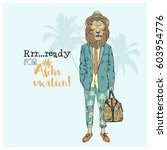 aloha vacation poster ... | Shutterstock .eps vector #603954776
