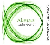 abstract background with green... | Shutterstock .eps vector #603959642