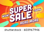 super sale template. sale and... | Shutterstock .eps vector #603967946