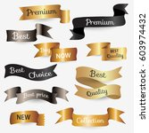 set of design elements banners... | Shutterstock .eps vector #603974432