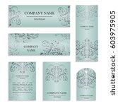 set of design templates for... | Shutterstock .eps vector #603975905