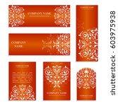 set of design templates for... | Shutterstock .eps vector #603975938