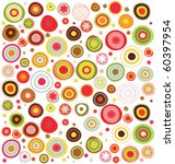 circles  colorful pattern | Shutterstock .eps vector #60397954