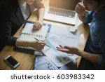 business people negotiating a... | Shutterstock . vector #603983342