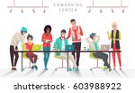 concept of the coworking center.... | Shutterstock .eps vector #603988922